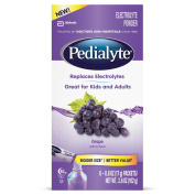 Pedialyte Large Powder Packs, Grape, 110ml, 6 Count