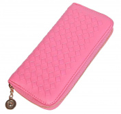 Lifeyz Weaven leather Zipper Around Organiser Coin Pocket Clutch Women Wallet Purse Bag