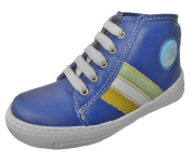 Kids Boys Girls Leather Boat Shoes-Stiefletten-Low Shoes-Sneaker wedge made from genuine Leather-Grain leather.
