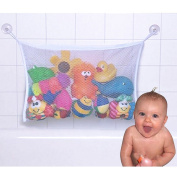 CHIC-CHIC Kids Baby Large Bath Toy Tidy Net Bag Storage Organiser with Suction Cups Hooks 45*35 cm