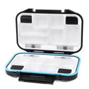 LeRysox(TM) UK 12 Compartments Waterproof Storage Case Fly Fishing Lure Spoon Hook Bait Tackle Box Black
