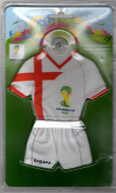 "Fédération Internationale de Football Association 2014 FIFA World Cup Brazil - Car Mini Kit ""England"" with suction cup. Approx. 20 cm"