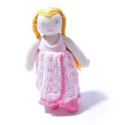 ChunkiChilli Organic Cotton Girl Soft Toy in Changeable Pink Dress