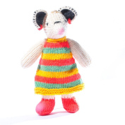 ChunkiChilli Toddler Mouse Soft Toy in Stripy Dress