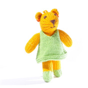 ChunkiChilli Toddler Lioness Soft Toy in Green Dress