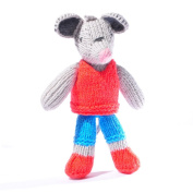 ChunkiChilli Toddler Mouse Soft Toy in Red Top