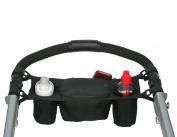 ZLMBAGUK Stroller Organiser Bag FREE Snack Cup Holder Best Jogging Stroller Accessories