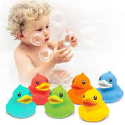 Mture Baby Bath Ducks - Rubber Duck Bath Toys No Holes No more Unhygienic Mouldy , Baby bath Toys Colourful Ducks Set for Babies Toddlers