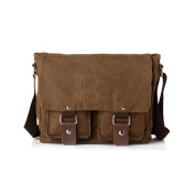 SOGAR Canvas Laptop Messenger Single Shoulder Crossbody Satchel for Men and Women,3 Colours