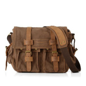 ETASSO Mens Canvas Shoulder Bag Messenger Bag