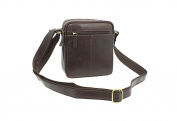 Visconti Compact Leather Messenger / Travel Bag S8 Brown