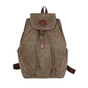 ZongSen Ladies' Casual Canvas Backpack Preppy Style Rucksack School Bookbag For Students Travel
