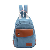 CHENGYANG Retro Canvas Backpack Leisure Style Lightweight Daypacks For Travel