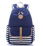 DADAWEN Casual Lightweight Canvas Backpack Schoolbag Rucksack