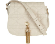 Small Beige Quilted Cross Body Bag