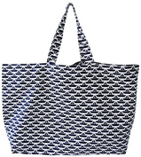 'St. Tropez Beach Bag Shopper/Beach Bag XXL Shopping Bag Classic Beach Boat Width 72 cm, height 44 cm with Pocket Bag