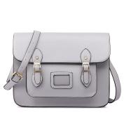Miss LuLu Ladies Designer PU Satchel Messenger Shoulder Bags Fashion Women Handbags Grey