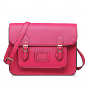Miss LuLu Ladies Designer PU Satchel Messenger Shoulder Bags Fashion Women Handbags Pink