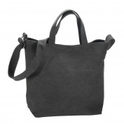 Shoulder Bag Universal Canvas Grey Made With Cotton by JOE COOL