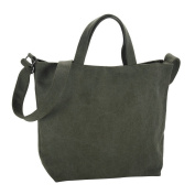 Shoulder Bag Universal Canvas Khaki Made With Cotton by JOE COOL