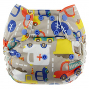 Blueberry Simplex All In One Nappy, Traffic, One Size