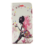 Sony Xperia M4 Aqua Leather Case,Sony Xperia M4 Aqua Wallet Case,Geduter [with Free Screen Protector and Stylus Pen] Fashion Butterfly Fairy Girl Floral Pattern Inlaid Shiny Glitter Bling Diamond Sparkle PU Leather Magnetic Flip Case Cover Purse Bag wi ..