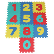 Soft Foam Play Mat Puzzle Jigsaw With Number (0-9) Pop-Out