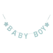 Gisela Graham Baby Boy Blue Wooden Garland