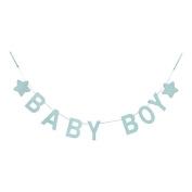 Gisela Graham Baby Boy Blue Wooden Garland