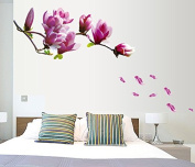 Warm Love Purple Jade Orchid Large Background Paintings Decorate The Wall Pvc Removable Sticker Green Waterproof Wall
