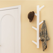 yazi Creative Tree Style Wall Mounted Hanger Coat Hat Rack Hook Solid Home Bedroom Art Decoration White