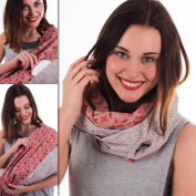 """Mania Breastfeeding scarf """"Butterfly"""" with small pocket for nursing pads in size L/XL"""