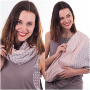 """Mania Breastfeeding scarf """"Softly"""" with small pocket for nursing pads in size S/M"""