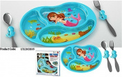 KidsFunwares Melamine Me Time Mermaid Meal Set, Blue