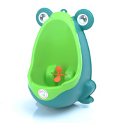 Babyhugs - Cute Frog Potty Toilet Training Pee Trainer Urinal for Boys with Whirling Windmill Wheel Target Toy - Green