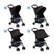 XCSOURCE Baby Infant Stroller Sun Shade UV Protection Rays Cover Awning Black WV248
