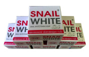 6 Piece GLUTA SNAIL WHITE SOAP BAR WHITENING REDUCE DARK SPOTS FACE BODY .