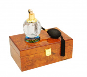 Glass Atomiser with Polished Wooden Display Presenation Box (Design 1