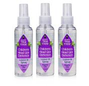 Escenti Tea Tree Children`s Head Lice Defence (Leave-in Spray) x3