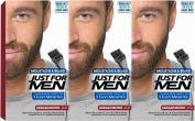 3 x Just For Men Moustache and Beard Facial Hair Gel Colour