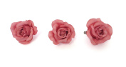 **NEW** X3 LARGE WILD ROSE PASTEL FABRIC ROSE ON FORK HAIR CLIP - ACCESSORIES WEDDINGS 50s BURLESQUE