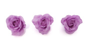 **NEW** X3 LARGE LILAC PASTEL FABRIC ROSE ON FORK HAIR CLIP - ACCESSORIES WEDDINGS 50s BURLESQUE