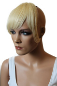 PRETTYSHOP 100% Human hair Clip in Bang Fringe Extensions Hairpiece Div. Colours H313d