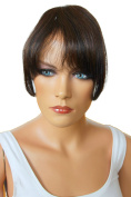 PRETTYSHOP 100% Human hair Clip in Bang Fringe Extensions Hairpiece Div. Colours H313i