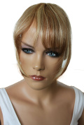 PRETTYSHOP 100% Human hair Clip in Bang Fringe Extensions Hairpiece Div. Colours H313j