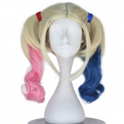 Miss U Hair Women Long Curly Suicide Harley Quinn Squad Halloween Cosplay Wig C291
