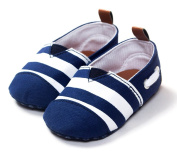 GMM Baby Boy's Anti-slip Blue Stripes Shoes Toddler Soft Indoor Play Shoes