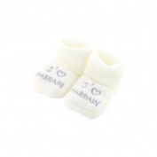 baby booties 0-3 Months white - I love godfather