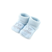 baby booties 0-3 Months Blue - I like Uncle