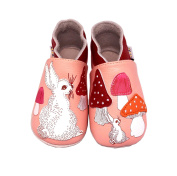 Lait Et Miel Girls' Booties Pink Hare 6-12 months
